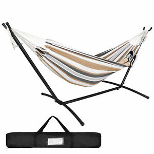 Portable Hammock with Stand for 2 person with Carrying case Outdoor Patio Use