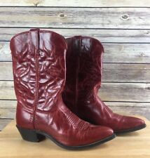 Wrangler Red Leather Western Cowgirl Boots Made In USA Women's 7 1/2 M
