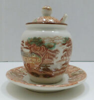 Honey Pot Jam Jar w/Lid Spoon Nasco China Mountain Woodland Japan Replacement