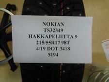 1 NEW NOKIAN HAKKAPELIITTA 9 215 55 17 98T TIRE WO LABEL TS32349 Q9