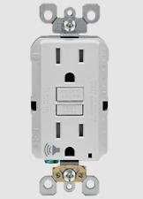 New!! LEVITON White Thermoplastic Audible GFCI OUTLET 15 Amp 125 Volt GFTA1-W