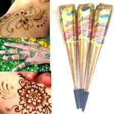 1 x 15g GOLDEN Glitter Gel Cone/ Tattoo Body Art/ Henna Gilding  1st Class Post