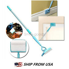 Baseboard Buddy Cleaning Mop Brush Simply Walk &Glide Extendable Microfiber Dust