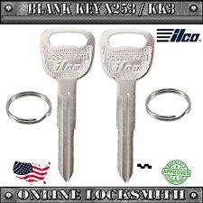 2 New Ilco Keys For Kia Rio / Kia Sedona / Kia Sephia - Blank KK3 / X253