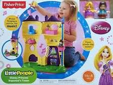 NIB Fisher-Price Little People Disney Princess Rapunzel's Flynn Tower Tangled