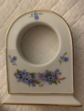 Limoges France Beautiful Violets Case for Non-working Clock Being Sold 'As Is'