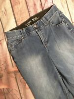 Lane Bryant Womens Jeans Straight Tighter Tummy Technology Sz 14 Average Stretch