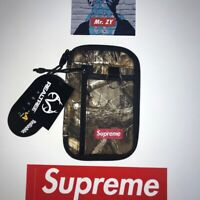 Supreme FW19 Small Zip Pouch Authentic Camouflage BOX LOGO WALLET SHOULDER BAG S