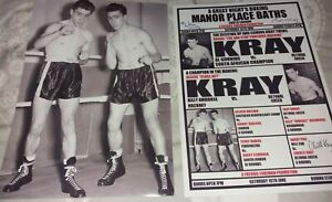 KRAYS BOXING POSTERS - SIGNED - RONNIE & REGGIE KRAY - GANGSTERS - CRIME.