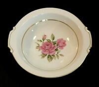Vintage NARUMI Fine China Round Serving Bowl SHARON Pink Rose Pattern Gold Japan