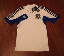 San Jose Earthquakes Adidas Replica Jersey Men's Small New With Tags