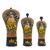 Captain Jack Golf Head Covers Driver Fairway Hybrid Wood Protector Case w/# Tag