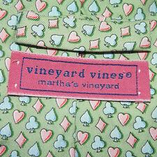 VINEYARD VINES Poker Spade Diamond Heart Card Suits Mens Designer Silk Neck Tie