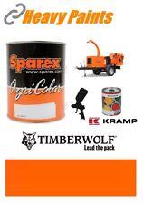 Timberwolf Wood Chipper Orange Paint High Endurance Enamel Paint 1 Litre Tin