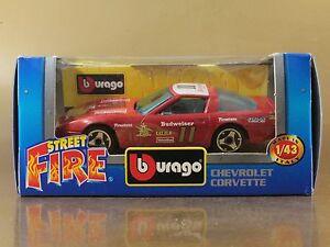 BBURAGO BURAGO 1/43 STREET FIRE #4192 CHEVROLET CORVETTE n. 11 NIB[PI3-037]