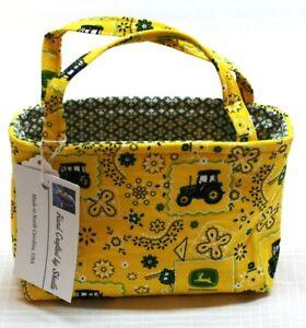 Child's Handbag Girl's John Deere Yellow  Hand Made in the USA 100% Cotton NEW