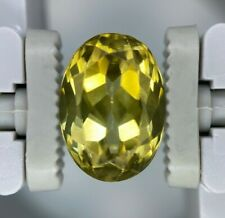 GIA CERTIFIED NATURAL NO HEAT Yellow Chrysoberyl Oval 6.55 CT