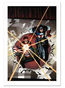 Captain America & Bucky #621 Canvas Giclee Art Ed McGuiness Marvel Artworks