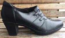 Clarks Bendables Black Leather Clogs Mules Comfort Zipper Women's 9.5 M