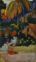 Paul Gauguin Landscape in Tahiti Giclee Canvas Print Paintings Poster