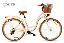 Goetze Mood 28 Zoll 7 Gang Citybike Tiefeinstieger Retro Damenfahrrad mit Korb