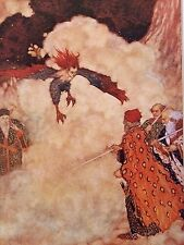 "EDMUND DULAC vintage mounted print, 14 x 11"", Shakespeare's Tempest  ED19"