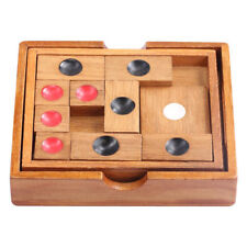 Wooden Brain Teaser Slide Escape Maze Puzzle Board Game Toy for Kids Adults D
