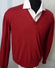 AVON CELLI CASHMERE SILK  V-NECK RED SWEATER 52