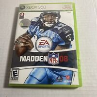 Madden NFL 08 2008 Microsoft XBOX 360 Complete Video Game Free Ship