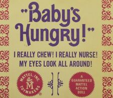1966 Mattel Baby's Hungry Original Doll Tag Booklet w/ Warranty Sheet