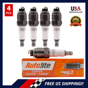 Set of 4 COPPER SPARK PLUGS For PACKARD CADILLAC CHEVROLET VOLVO AUTOLITE 3136