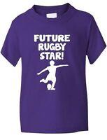 Avenir Rugby étoile Sport Drôle Enfants Garçons Filles T-Shirt