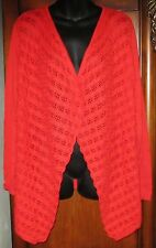 NEW Chico's Tara Texture Drape Cardi Sweater SZ 2 Annatto Orange NWT M 12/14