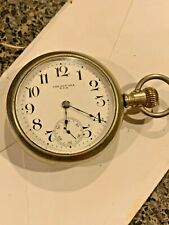 New Era 18 size Mens Pocket Watch #1593596 Circa 1900 good balance as found