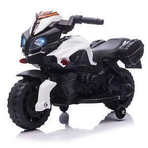 HOMCOM Kindermotorrad Kinderelektroauto Elektromotorrad 6V Schwarz+Weiß