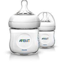 Philips AVENT Natural Newborn Feeding Bottle 125ml 2 Bottles BPA Free SCF690/27