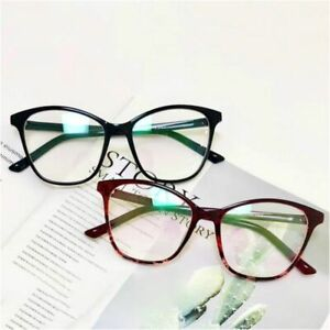 Women's Clear Optical Cat Eye Glass Spectacle Resin Solid Pattern Eyes Accessory