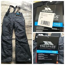 Trespass Lohan Ski Pants Salopettes - Black XL Brand New With Tags
