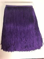 """12"""" Royal Purple Chainette Fabric Fringe Lampshade Lamp Costume Trim by the Yard"""