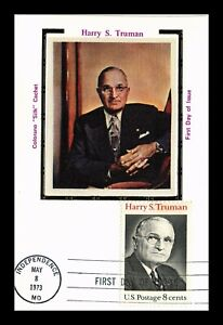 DR JIM STAMPS US 8C HARRY S TRUMAN COLORANO SILK FIRST DAY MAXIMUM CARD