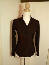 gap brown strectch  body shirt   lycra mix