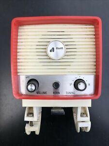 Vintage 60's 70's Arvin Bicycle AM Radio w/Horn & Reflector
