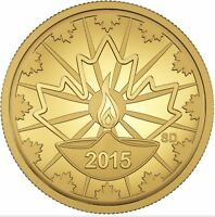 2015 25 Cent 99.99% Pure Gold Coin Diwali: Festival of Lights