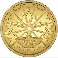 2015 25 Cent .9999 Pure Gold Coin Diwali Festival of Lights