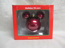 Mickey Mouse Walt Disney World Enesco Holiday Chears Hanging Ornament Red