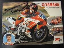 Yamaha Motor Germany Team World SSP 2001 #21 Jörg Teuchert (D) gesigneerd