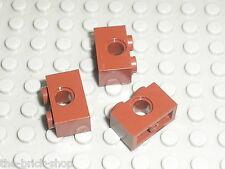 3 briques lego technic OldBrown ref 3700 / Set 7139 7111 4476 4480 10124 7417 ..