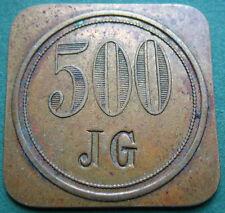 Trade token - jeton - Sweden - JG - 500