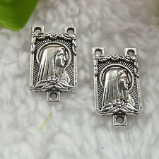 Free Ship 108 pcs tibet silver rosary and Mary connector 19x10mm B036