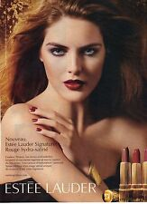 PUBLICITE ADVERTISING 2007   ESTEE LAUDER le rouge à lèvres hydra satiné